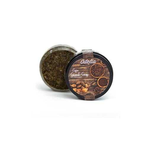 Picture of Odelia Coffee scrub soap with Apricot seeds