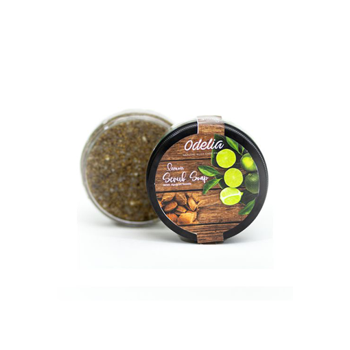 Picture of Odelia Lemon scrub soap with Apricot seeds